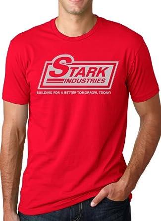 "Stark Industries Logo T-Shirt ""Building a Better Tomorrow, Today!"" Shirt S"