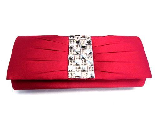 Glamorous Sexy Crystal Studded Evening Clutch/Shoulder Bag Hbg100657-Bg72 - 011 Jf