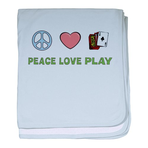 Cafepress Play Cards Baby Blanket - Standard front-1021536