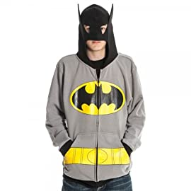 Batman Mens Gray Costume Hoody