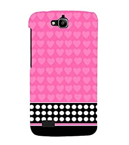 Pink Pattern 3D Hard Polycarbonate Designer Back Case Cover for Huawei Honor Holly :: Honor Holly