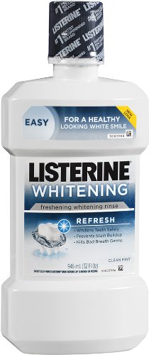 Listerine Whitening Refresh Freshening Rinse, Clean Mint, 32 Ounce