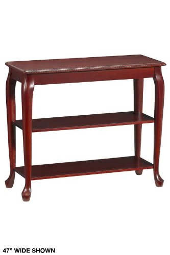 Cheap Console Table Without Drawers 2-shelf 47″w Mahogany (B001BU6DHC)
