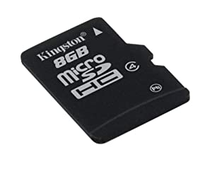 Kingston Digital 8GB microSDHC Class 4 Flash Memory Card SDC4/8GBSP