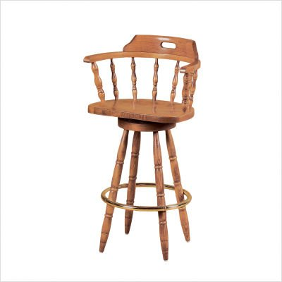 30 Quot Colonial Captains Swivel Bar Stool Finish Pine