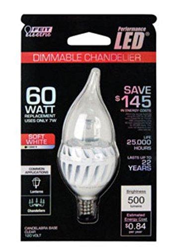 Feit Led Accent Bulb 8 W 500 Lumens Clear Candelabra E12 3000 K 80 Cri