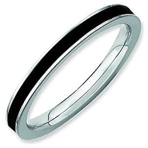 amazon   sterling silver stackable expressions black