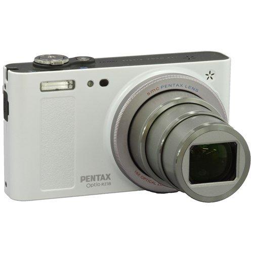 PENTAX デジタルカメラ Optio RZ18(パールホワイト)1600万画素 25mm 光学18倍 小型軽量 OPTIORZ18WH