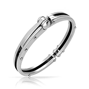 Bling Jewelry 50 Shades of Grey Inspired Fetish Steel Handcuff Mens Bracelet