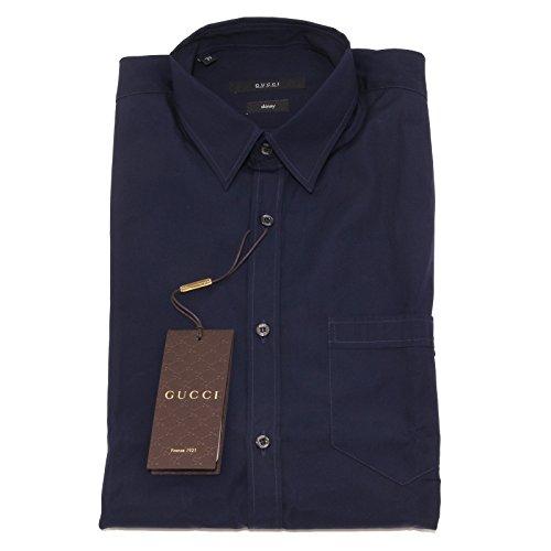 4767O camicia blu skinny GUCCI camicie uomo shirt men [38 (15)]