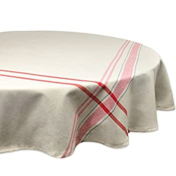 DII 100% Cotton, Machine Washable, Everyday French Stripe Kitchen Tablecloth For Dinner Parties, Summer & Outdoor Picnics - 70