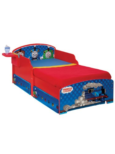 Thomas the Tank Engine Toddler Bed with Storage, Shelf & Fully Sprung Mattress