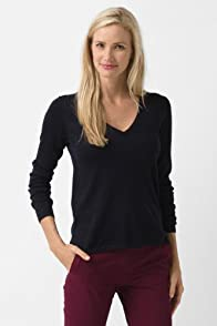 Long Sleeve Lurex V-Neck Sweater