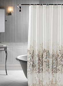 Rainforest 14 Piece Shower Curtain Set In Soft Blue And Beige
