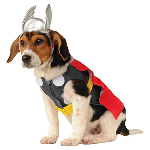 Superhero Dog Costumes Funny Pet Halloween Fancy Dress Cute Superhero Dog Spider-Man Thor Hulk Wolverine Matching Headpiece Brand New (XL (X-Large), (Werewolf Outfits Halloween)