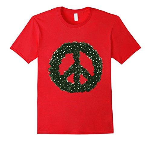Christmas-Peace-Wreath-T-Shirt
