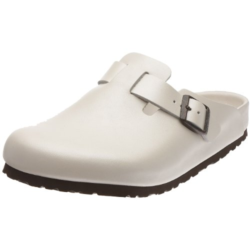 Birkenstock Boston Smooth Leather, Style-No. 860371, Unisex Clogs, Nacre, EU 43, normal width