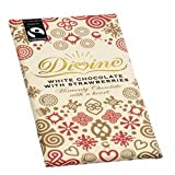Divine White Chocolate Bar with Strawberries - 100g