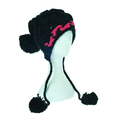 Damara Women's Trendy Winter Warm Hat Wrist Knitted Wool Cap,grey