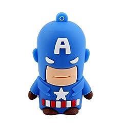 Captain America USB 2.0 Flash Drive 32GB Cartoon Hero Memory Stick