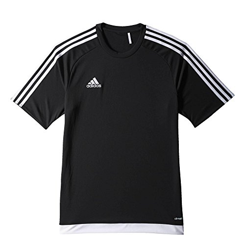 Adidas - Maglia da calcio ESTRO 15, Uomo, Trikot/Teamtrikot ESTRO 15 JSY, nero / bianco, L