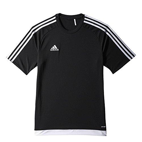 Adidas-Maglia da calcio ESTRO 15, Uomo, Trikot/Teamtrikot ESTRO 15 JSY, nero / bianco, L
