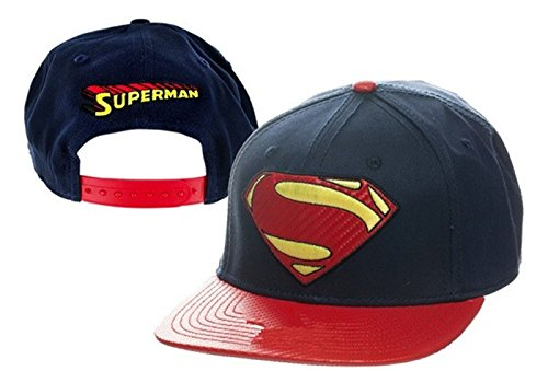 Superman-Cappuccio Cappello cappelli cappellino da Baseball calcio Sport regolabile per uomini e donne (blu scuro)