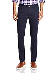Being Human Men's Casual Trousers (8903861261226_BHNDC6028_36W x 33L_Dark Navy)