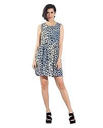 Chique Women's Dress (bluefd_Blue_Medium)