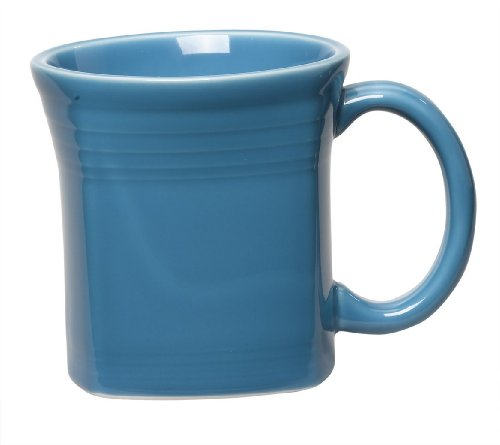 Fiesta 13-Ounce Square Mug, Peacock