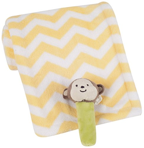 Carter's Boa Blanket with Rattle, Green/Yellow Safari