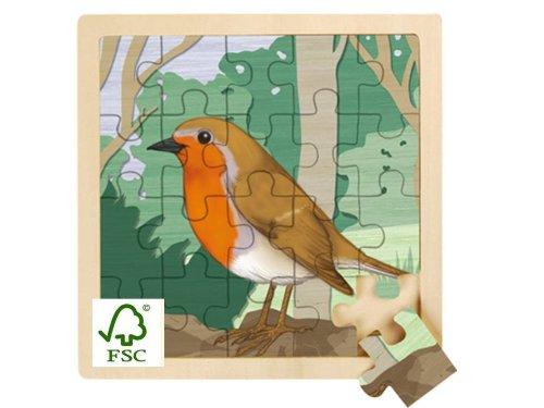Imagen principal de Wild Republic FSC-85522 - Puzzle de madera de 20 piezas, diseño de pinzón
