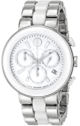 "Movado Women's 0606758 ""Cerena"" Stainless Steel And Ceramic Watch"