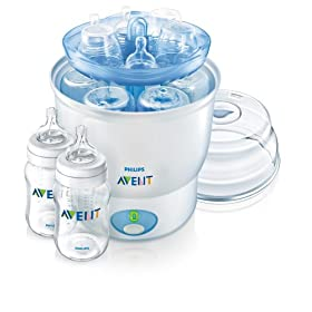 Philips Avent iQ24 Sterilizer with 2 Bottles, 9 oz