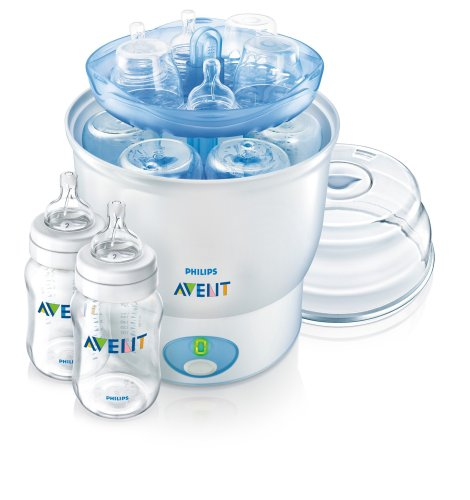 Philips Avent iQ24 Sterilizer with 2 Bottles (9 ounce)