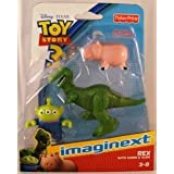 Imaginext Disney Pixar Toy Story 3 Rex With Hamm And Alien