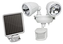 MAXSA Innovations 40218 Motion-Activated Dual Head LED Security Spotlight, White