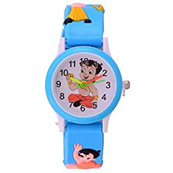 S S Traders Chotabeam White Dial Kids Watch For Girls/Boys - Colour May Vary