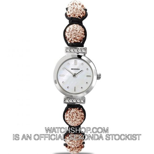 Sekonda Ladies Peach & Silver Crystalla Watch