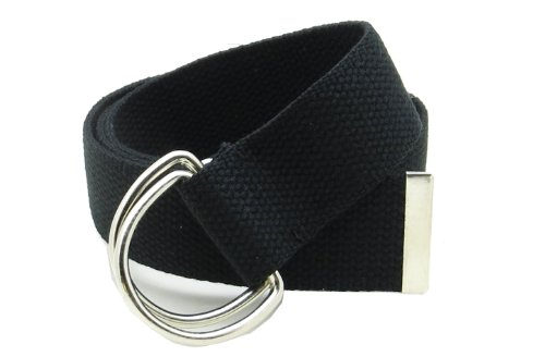 Canvas Web Belt D-Ring Buckle 1.5