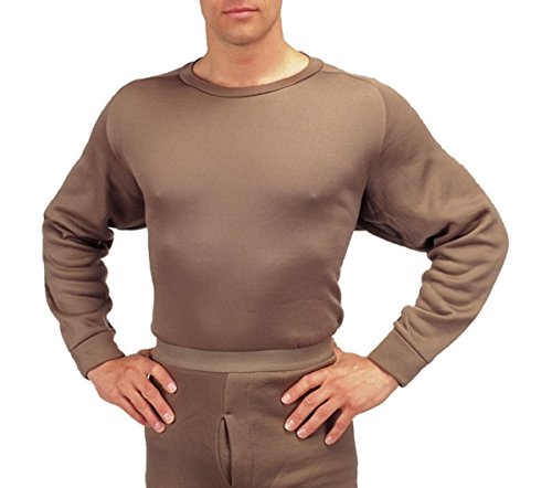 Gi Plus Polypro Crew Neck Top (Medium/Brown) (Rothco Extreme Thermals compare prices)