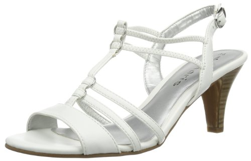 Tamaris Women's 1-1-28300-22 108 Fashion Sandals White Blanc (White Matt) 36