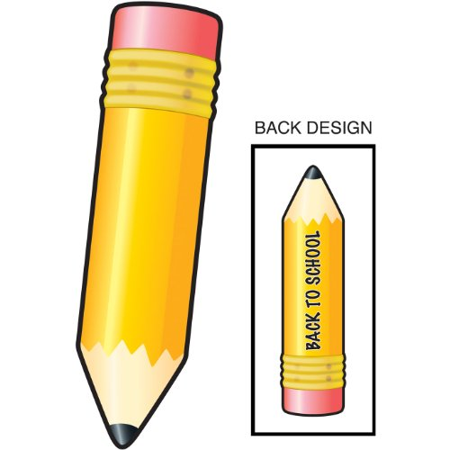 Back-To-School Pencil Cutout Party Accessory (1 count) - 1