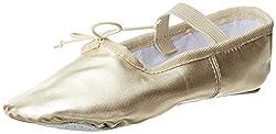 Gold Ballet Flat Toddler Little Kid Big Kid Gold 8 M US Toddler