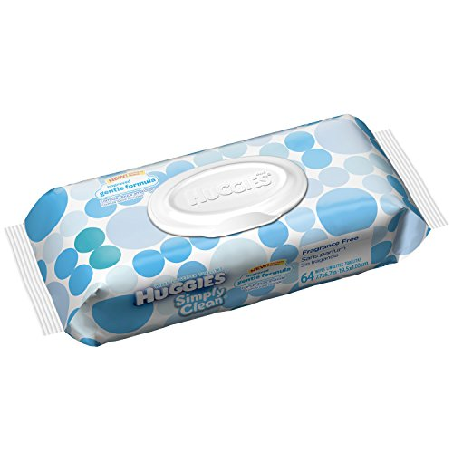 HUGGIES Simply Clean Fragrance Wipes Baby Wipes, 64 sheets