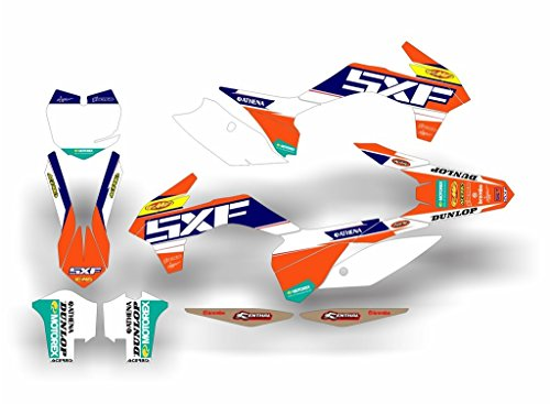 SCRUB DESIGNZ KTM SXF 250-350-450 2013-2015 FACTORY REPLICA ST complete decals kit (Ktm Sxf 450 compare prices)