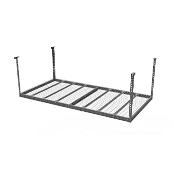 NewAge Products 401514-Feet by 8-Feet Ceiling Mount Garage Storage Rack, Gray