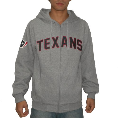 NFL Houston Texans Mens Heavy Weight Warm Zip-Up Hoodie / Sweatshirt Jacket (Size: S)
