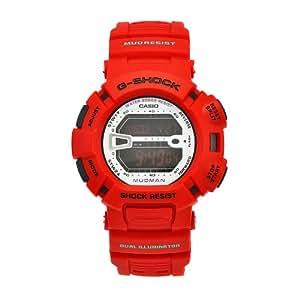 Casio Men's G9000MX-4 G-Shock Mudman Red Rubber Mud And Shock Resistant Watch