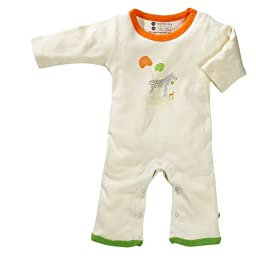 Organic Baby Soy Onepiece - Zebra (18-24 Months)